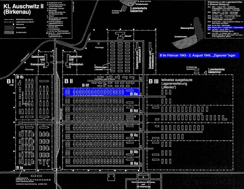 Lageplan Birkenau